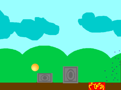 Platformer game on Scratch.
