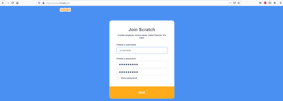 join scratch login page